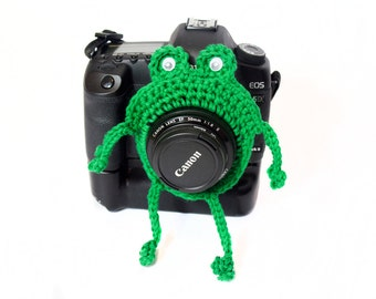 Frog Camera Buddy, Frog Photo Prop, Frog Lens Critter, Lens Accessory, Child Photo Prop, Photography Gift, Animal Lens Buddy