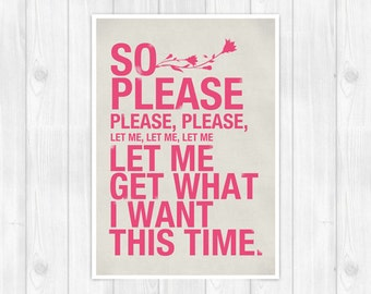 The Smiths -  Please - Music Concept POSTER - Lyrics Poster - A3 11.7 x 16.5 in