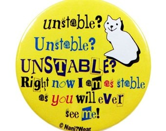 6th Doctor 2-Inch Button: Unstable