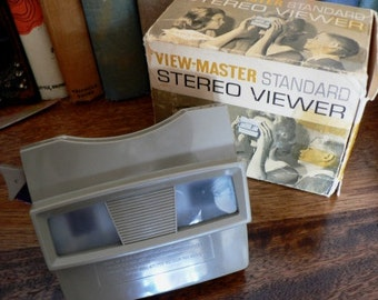 vintage stereo viewer  ...VIEWMASTER STEREO VIEWER with original box family fun  ...
