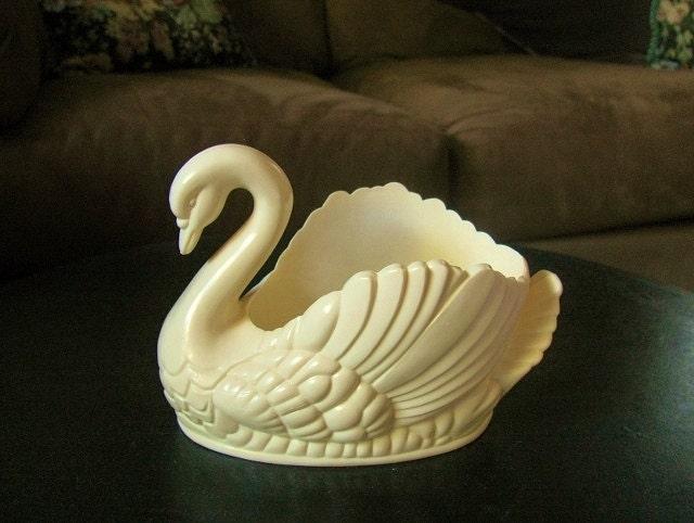 Antique 1950 39 s regaline plastic swan planters - Plastic swan planter ...