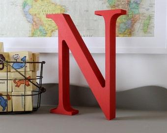 Alphabet Letters Free Standing - Alphabet Decor Letter N