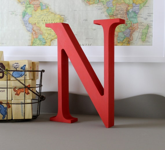 Alphabet letters free standing alphabet decor letter n for Letter n decorations