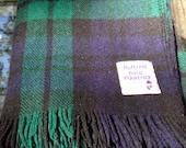 Vintage Scottland Tartan Wool Blanket