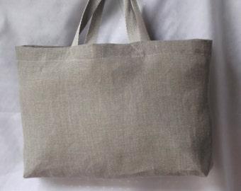 Gray linen tote bag gray linen bridesmaid favor bag organic linen bridal lingerie bag