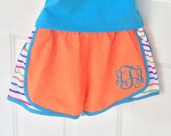 Monogram Running Shorts, Cheer Shorts, Monogrammed gifts, Bridesmaid gift Personalized  Shorts