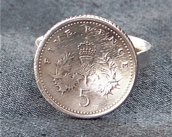 Great Britain Coin Ring