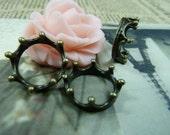 20PCS antique bronze  7x19mm crown beaded charm pendant- WC1381