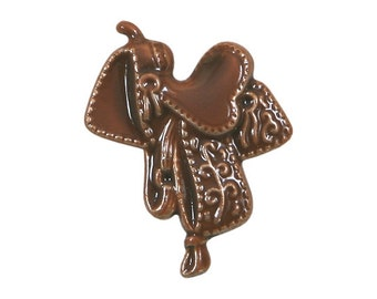 Western Saddle 7/8 inch ( 23 mm ) Susan Clarke Metal Button