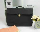 Kraft Paper & Felt Briefcase Business Bag File Bag can Hold 13'' Macbook Pro / Air 15'' Macbook Pro Case Macbook Bag KE1365