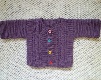 Cute baby gift,knit baby cardigan, baby girl sweater, free shipping