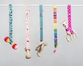 Toy Leash - Pink Flower -  Saver Strap - Sophie Saver - Pacifier Clip