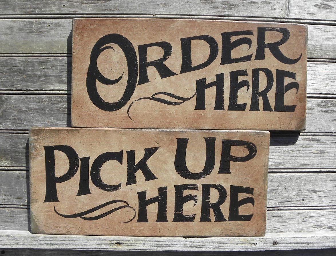 Order Here Sign Original Hand Painted Wall Decor Wooden. Synchronization Signs. Zodaic Signs Of Stroke. Aspie Signs. Height Signs. Snapshot Signs. Small Bathroom Signs. Home Clipart Signs Of Stroke. Paragraph Signs