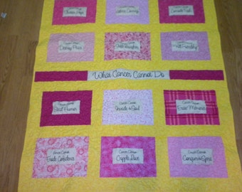 What Cancer Cannot do- Lap quilts