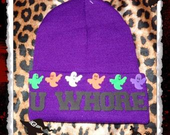 Purple MEAN GIRLS Beanie Hat HALLOWEEN