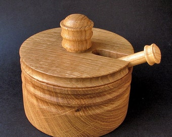 Wooden Salt Sugar Box Bowl with Lid COTTAGER iii