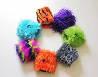 SALE - Furry Neon Orange - Rock Climbing Chalk Bag