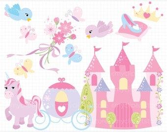 Clipart - Princess Palace - Digital Clip Art (Instant Download)