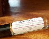 Flower Petit Fours Perfume oil- Lavender, Vanilla, Honey, Pastry- Roll on Perfume