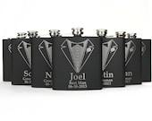 7 Groomsmen Flasks, Personalized Groomsmen Gift, 7 Engraved Flasks