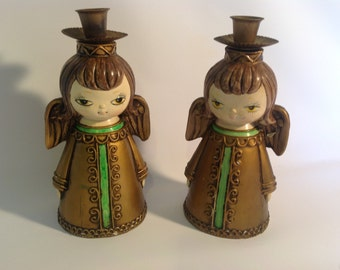 Vintage Angel Dickson Candle Holders Made in Japan