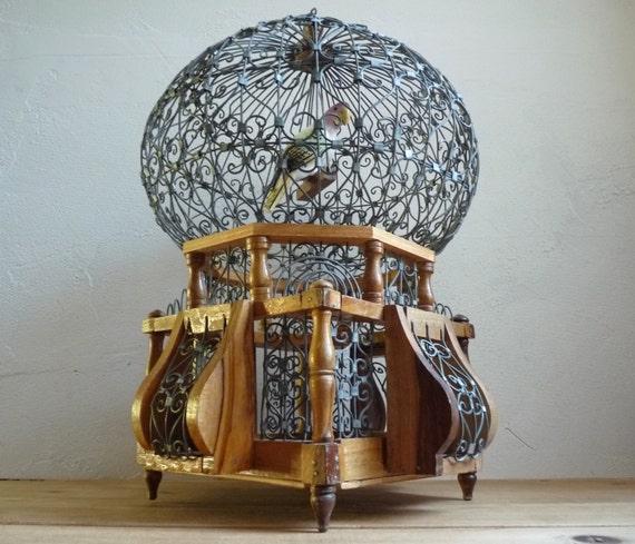 On sale vintage tunisien bird cage dome shaped decorative - Cage a oiseau decorative ...