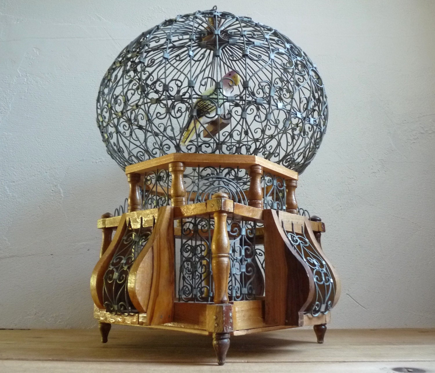 On sale vintage tunisien bird cage dome shaped decorative - Petite cage oiseau deco ...