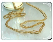 Retro Triple Skinny Chains in Gold Tone - 1970's   -    3221a-051613000