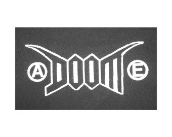 DOOM PATCH - on black canvas