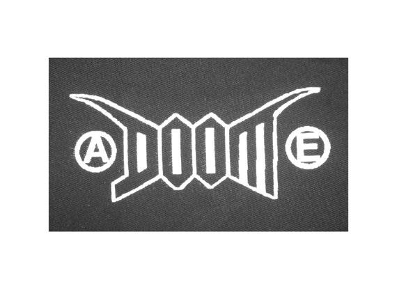 DOOM PATCH punk grindcore screen printed crust