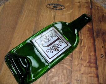 Personalized Cheese Board - Flat Wine Bottle