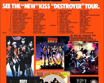 KISS DESTROYER TOUR Promo Poster Stand-Up Display - Collectibles Collection Collector Memorabilia Gift Poster Army Rock Band Music Retro