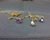 Goldtone Necklace with charms