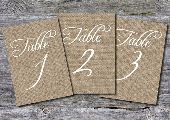 Wedding Table Numbers (1-30) INSTANT DOWNLOAD