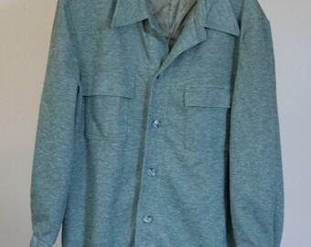 vintage heather green shirt jacket munsingwear grand slam size 44
