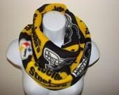 Sale Pittsburgh Steelers Infinity Scarf NFL Black Gold White Fleece Cowl Circle Loop Woman Man Unisex 2013 Fall 2014 Winter Fashion