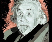 Albert Einstein Vectored and Gilded