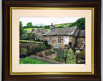 The Old Schoolhouse at Countersett, NorthYorkshire  Framed original print of  painting by Dave Smith
