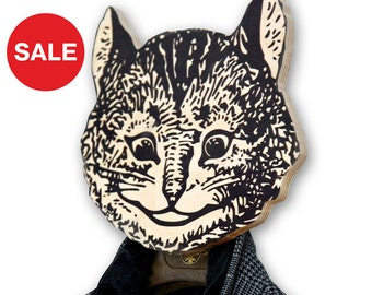 Sale 30% OFF Unique hook - hanger - mask - She - cat a funky decorative article for your home or office