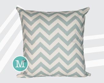 Village Blue Pillow Cover - 20 x 20