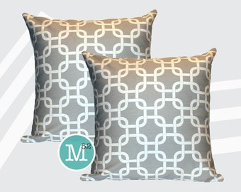 Grey Gotcha Pillow Covers - 20 x 20 and More Sizes - Zipper Closure