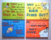CUSTOM LISTING for Manju ONLY Three additional Dr Seuss 12x16 canvases original handmade paintings