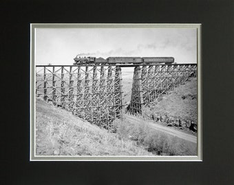 Camas Prairie Train 343,using Northern Pacific locomotive,Numbered Limited Edition Print, Philip C. Johnson Family Collection