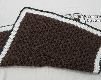 Crochet Diamond Car Seat Blanket Pattern
