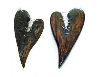 Heart Pendant, Broken Hearted and Repaired Love