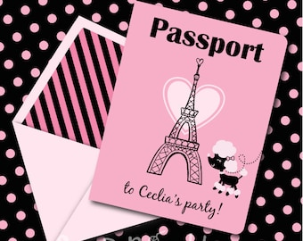 Pink poodle invite etsy instant download pink parisian poodle birthday passport printable invitation you edit yourself in solutioingenieria Choice Image