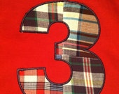 Infant, Toddler and Boys Birthday Number T-Shirt