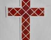 Red Glass Mosaic Cross