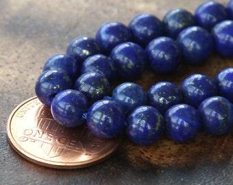 Lapis Lazuli Gemstone Beads, 6mm Round - 15 inch strand - eGR-LL002-6