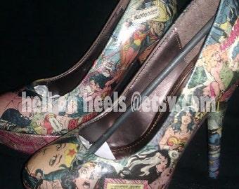 Vintage Wonder Woman shoes